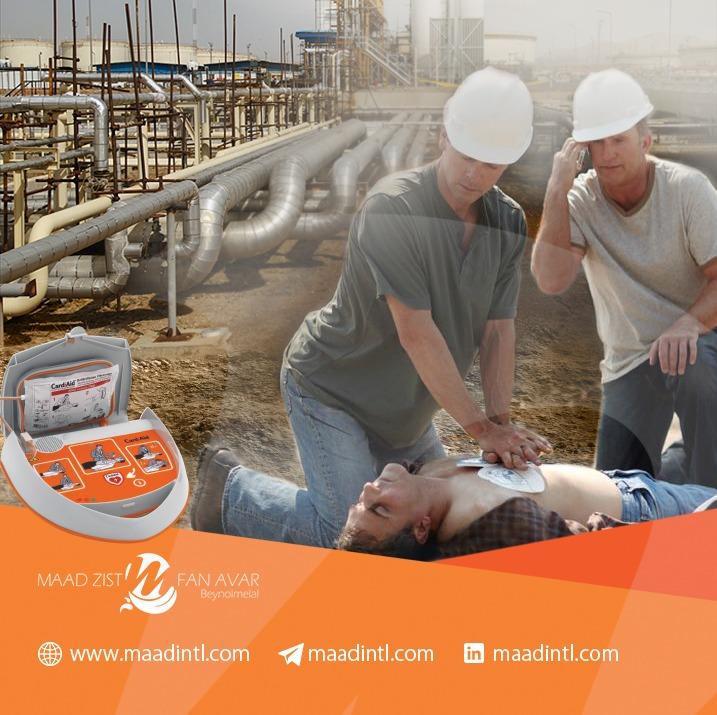 استفاده از دستگاه شوک خودکار در شرکتهای نفت و گاز