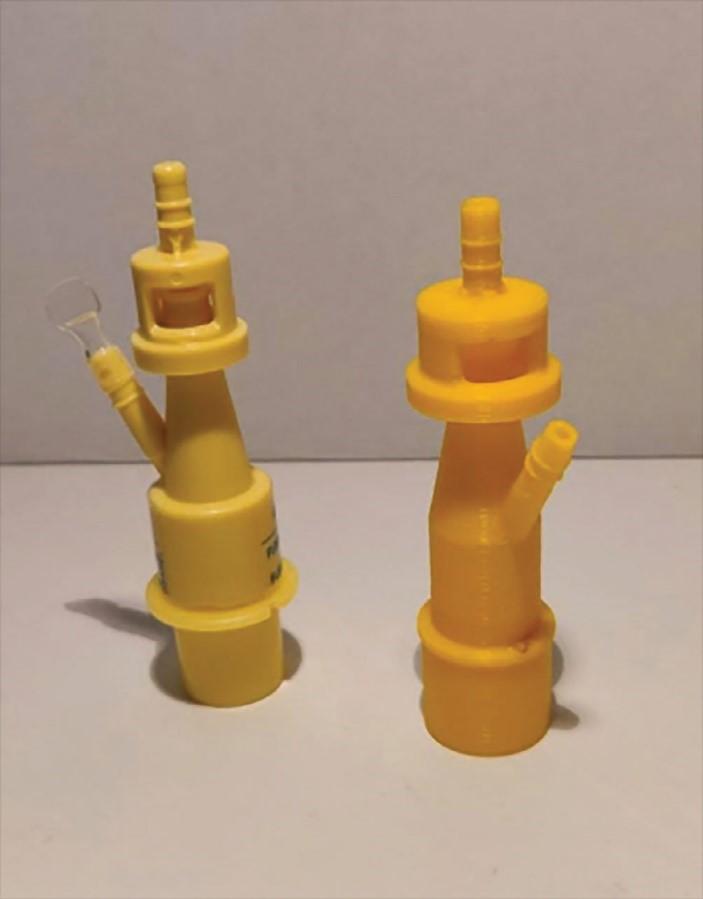 استفاده از قطعات چاپ سه بعدی شده برای ونتیلاسیون بیماران در پاندمی کرونا