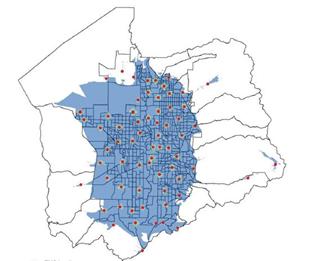 قراردهی ایستگاه های تجهیزات پزشکی مجهز به دستگاه شوک خودکار در سطح شهر برای بهبود زمان رسیدگی به بیماران هنگام بروز حملات قلبی در محیط خارج بیمارستانی